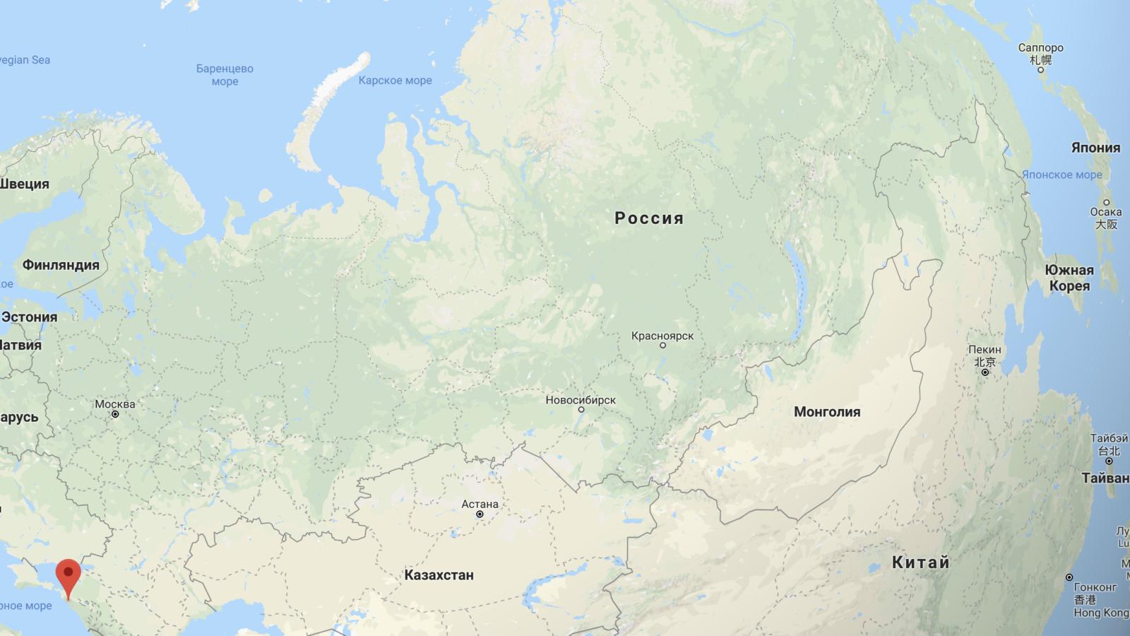Карта Геленджик на карте России