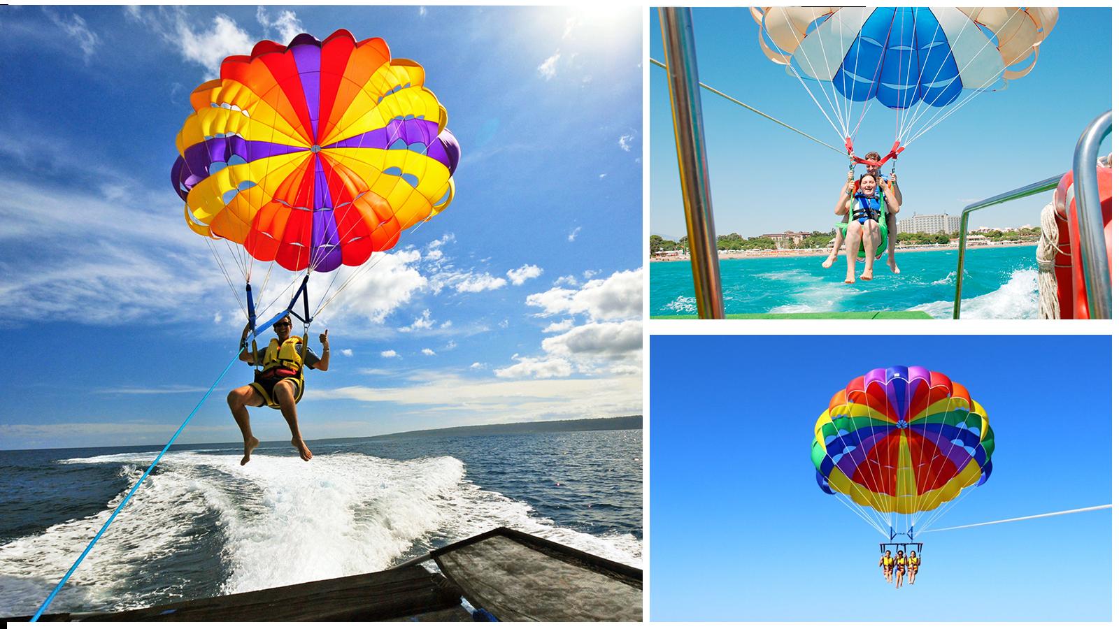 полет на водном парашюте в Геленджике